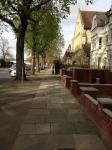 London street fine weather